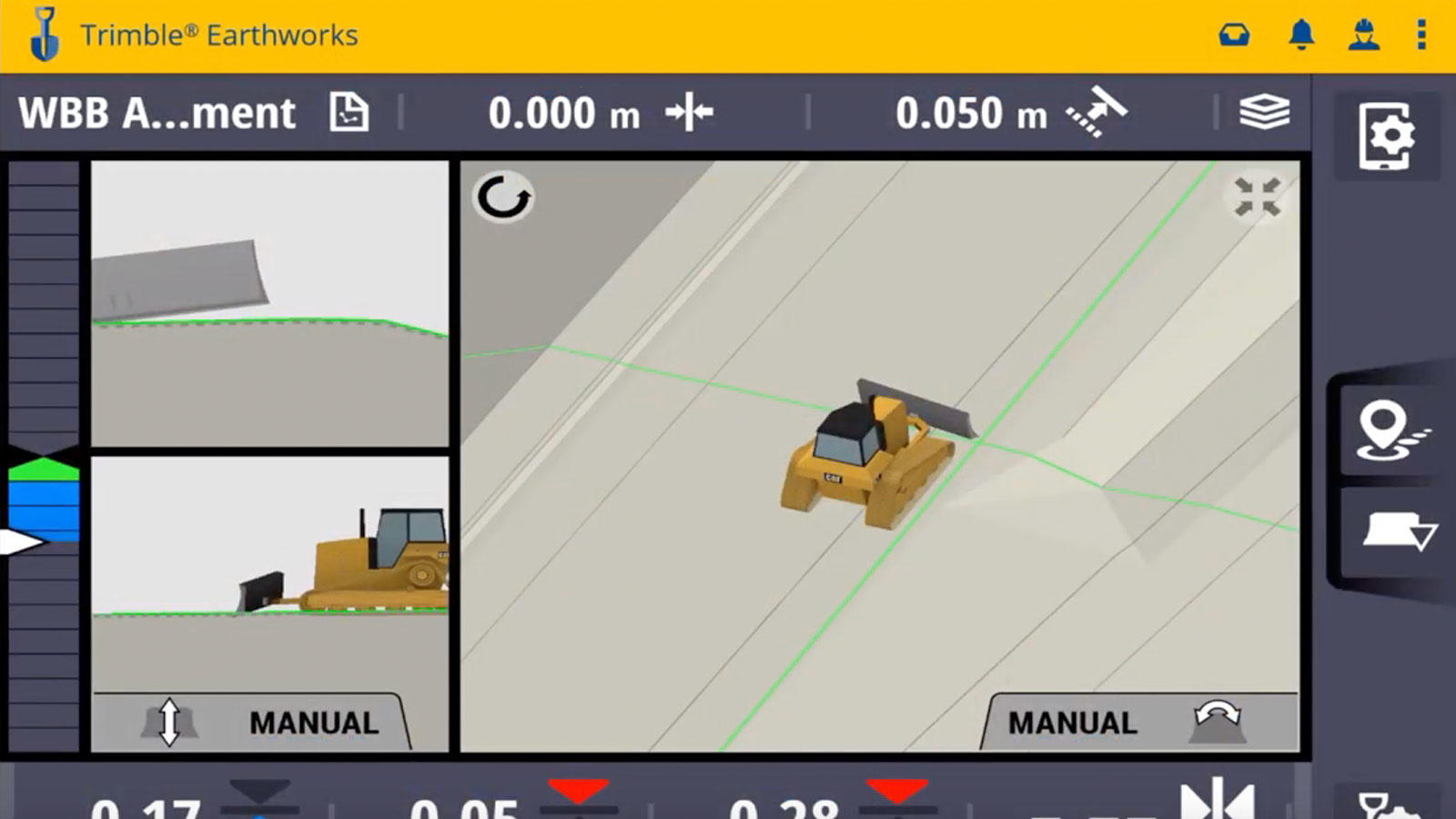 Trimble Earthworks Software for dozers